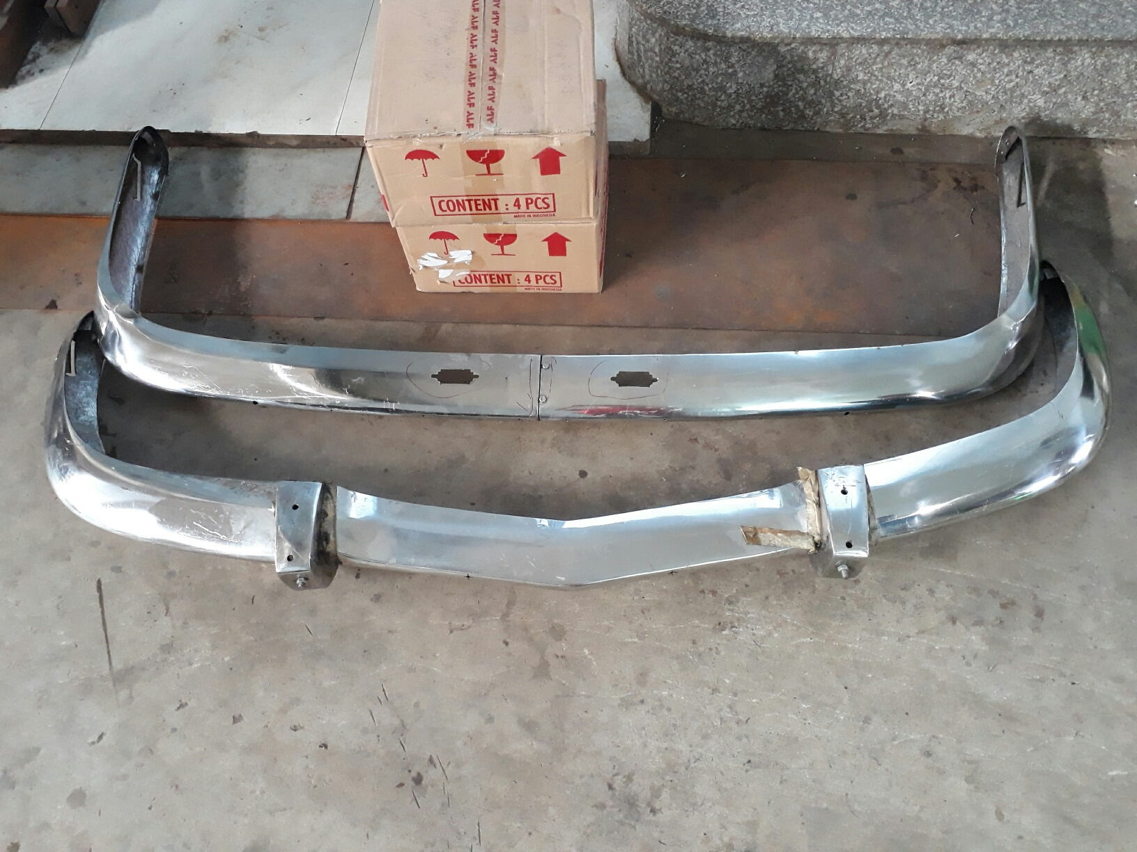 BMW Sedan Early Stainless Steel Bumper