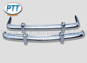 VW Karmann Ghia EU Stainless Steel Bumpers (1956-1966, 1967-1969, 1970-1971)